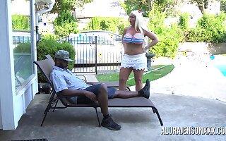 Alura Jenson pounded by a black cock
