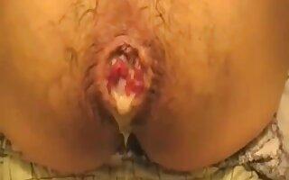 Damn big black cock stretches my tight ass and cum juicy