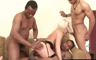Sexy and horny sluts enjoy getting all holes filled by black dicks in gangbang