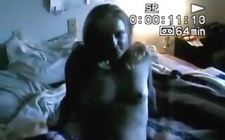 Husband tapes his blonde wife having sex with a black guy