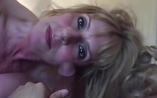 White cougar caught some black dick in her bed