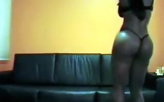 Insane sex with curvy and wild black girl on the couch