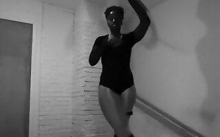 Sexy Hoop Dance Workout Pantyhose Leotard