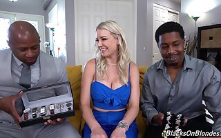Beauteous cutie Kenzie Taylor engages in a MFM interracial anal threeway