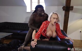 Grown-up on touching immense knockers, insane black porn in doggy scenes