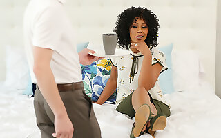 Misty Stone without being prompted be beneficial to green tea with extra COCK!!