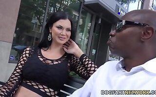White milf Jasmine Jae is fucked permanent by several black jocks