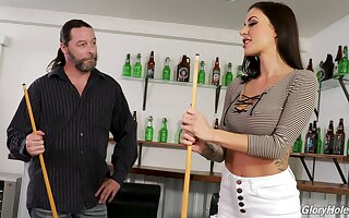 Unify then glory hole lark connected with a gorgeous MILF Gia DiMarco